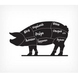 Меловая табличка «Хрюшка» с печатью BB PIG PRINT-204114
