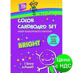"""Набор цветного картону А5, 10 листов, """"CFS"""" CF21002"""