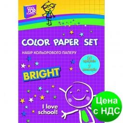 """Набор цветной бумаги """"CFS"""", А4, 16 листов, 8 цв., 70 г/м2 CF21103"""