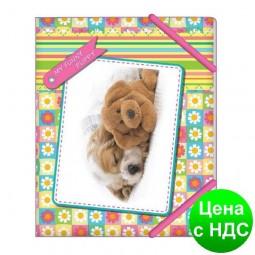 """Папка на резинке В5 """"My funny puppy"""" «Квіточки» CF31642-01"""
