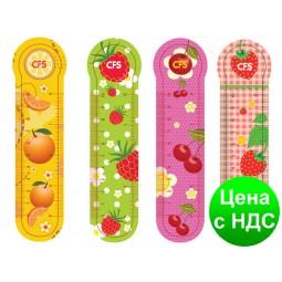 """Закладки пластиковые для книг """"Fruit"""" (4шт.) CF69106"""