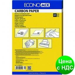 Копировальная бумага А4 Economix, 100 листов,черный E20501-01