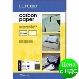 Копировальная бумага А4 Economix, 100 листов, синий   E20501-02