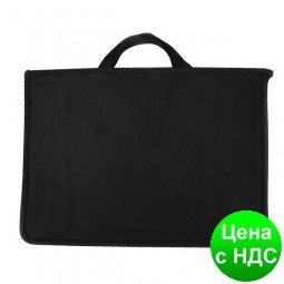 Портфель пластиковый А4 Economix на молнии, 2 отделения,черный E31630-01