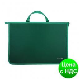 Портфель пластиковый А4 Economix на молнии, 2 отделения, зеленый E31630-04