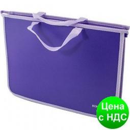 Портфель пластиковый А4 Economix на молнии, 2 отделения, сиреневый E31630-12