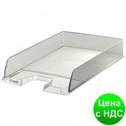 Лоток для бумаги горизонтальный Economix, пластик, прозрачный E31803-00