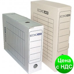 Короб архивный картонный 80 мм Economix, коричневий E32701-07