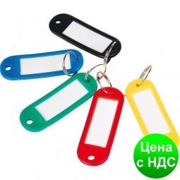 Брелок д/ключей пластиковый 60*22мм, ассорти E41637