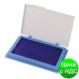 Подушка штемпельная, настольная Economix, размер 70х110 мм, синяя E42101-02
