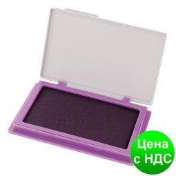 Подушка штемпельная, настольная Economix, размер 70х110 мм, фиолетовая E42101-12