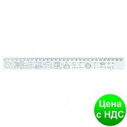 Линейка 30 см, геометрические фигуры и формулы, напечатанная E81330-04