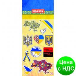 Наклейки полимерные объемные глянцевые «UA», 10*18 см MX25167