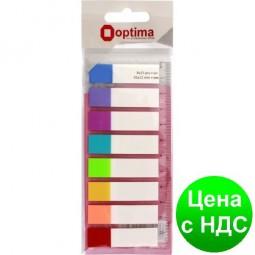 Закладки с клейким слоем 12х45 мм Optima, 120 шт., 8 неоновых цветов O25532