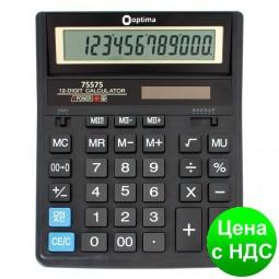 Калькулятор настольный Optima 12 разрядов, размер 203*158*30.5 мм O75575