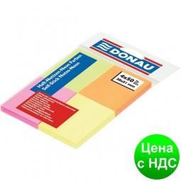 Блок для заметок с клейким слоем 4цв. х50листов, 38х51,4мм, неон, ассорти 7578001PL