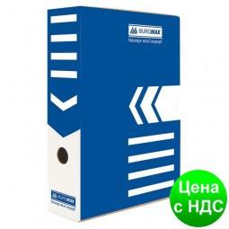 Бокс для архивации документов 80мм, синий BM.3260-02
