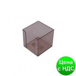 Бокс для бумаги 90х90х90мм, JOBMAX, дымчатый 83031