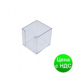 Бокс для бумаги 90х90х90мм, JOBMAX, прозрачный 83032