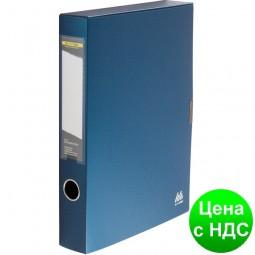 Бокс для документов на липучке, 55мм, , т. синий BM.3201-03