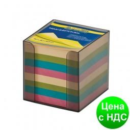 Бокс с цветной бумагой 90х90х90мм.,  дымчатый BM.2291-02