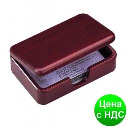 """Дер.контейнер для визиток ,""""Красное дерево"""" 1315WDM"""