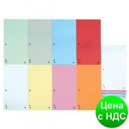Индекс-разделитель 10, 5х23см (100шт.), картон, ассорти 8620100-99