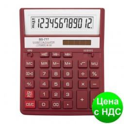 Калькулятор BS-777RD 12 разрядов, 2-пит, красный BS-777RD