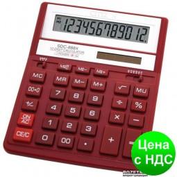 Калькулятор SDC-888 ХRD, красный 12 разрядов SDC-888 XRD