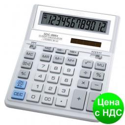 Калькулятор SDC-888 ХWH, бело-серый 12 разрядов SDC-888 XWH