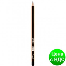 Карандаш графитный BLACK PEPS 2B, без резинки, коробка с подвесом MP.850022