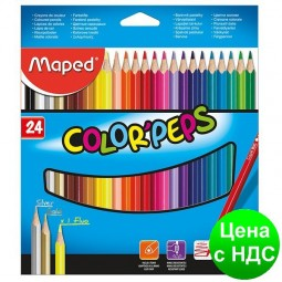 Карандаши цветные COLOR PEPS Classic, 24 цветов MP.183224