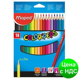 Карандаши цветные COLOR PEPS Classic, 18 цветов MP.183218