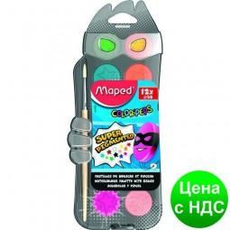 Краски акварельные COLOR PEPS 12 цветов + кисточка MP.811520