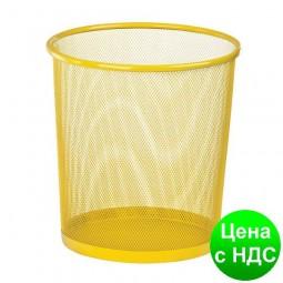 Корзина для бумаг круглая 265x265x280мм, металлическая, желтый ZB.3126-08