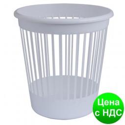 Корзина офисная для бумаги 10л., пластик, белый 82062