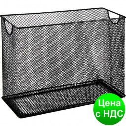 Короб для подвесних файлов 315x140x245мм, металлический, черный BM.6236-01