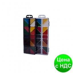 Краски акварельные 18 цв.,  пласт./кор., б/п., белый ZB.6523