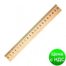 Линейка деревянная 20 см (шелкография) 103007