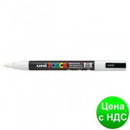 Маркер uni POSCA 0.9-1.3мм, белый PC-3M.White