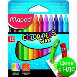 Мел восковой COLOR PEPS Wax Crayons, 12 цв. MP.861011