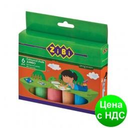 Мел цветной 6шт., JUMBO, картонная коробка ZB.6710-99