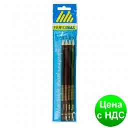Набор карандашей графитовых HB, BOSS, ассорти, без ластику, 4шт./блистер BM.8538-4