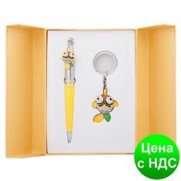 """Набор подарочный """"Goldfish"""": ручка шариковая + брелок, желтый LS.122025-08"""