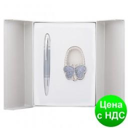 """Набор подарочный """"Lightness"""": ручка шариковая + крючек д/ сумки, серый LS.122030-09"""