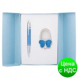 """Набор подарочный """"Lightness"""": ручка шариковая + крючек д/ сумки, синий LS.122030-02"""