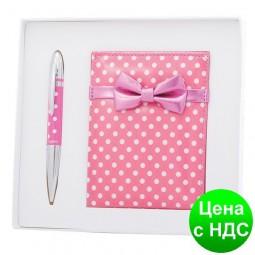 """Набор подарочный """"Monro"""": ручка шариковая + зеркало розовый LS.122036-10"""