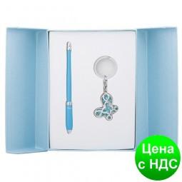 """Набор подарочный """"Night Moth"""": ручка шариковая + брелок, синий LS.122018-02"""