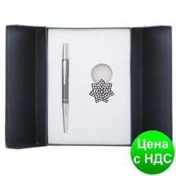 """Набор подарочный """"Star"""": ручка шариковая + брелок, черный LS.122014-01"""