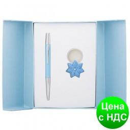 """Набор подарочный """"Star"""": ручка шариковая + брелок, синий LS.122014-02"""